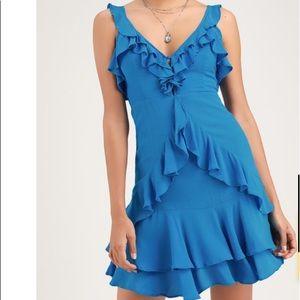 NEW Ruffled Blue Dress